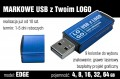 Pendrive EDGE 8 GB z grawerem - kolor niebieski
