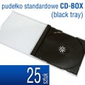 pudełko plastikowe do płyt CD, DVD - CD-BOX - black tray