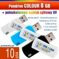 Pendrive COLOUR 8 GB z nadrukiem full kolor - komplet 10 szt.