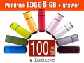 Pendrive EDGE 8 GB z grawerem - komplet 100 szt.