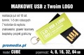 Pendrive CUBE 4 GB z grawerem - kolor zielony