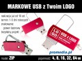 Pendrive Goodram ZIP z grawerem - kolor czerwony (bordo)