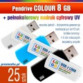 Pendrive COLOUR 8 GB z nadrukiem full kolor - komplet 25 szt.