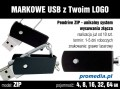 Pendrive ZIP 8 GB z grawerem - komplet 10 szt.