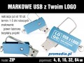 Pendrive Goodram ZIP z grawerem - kolor niebieski
