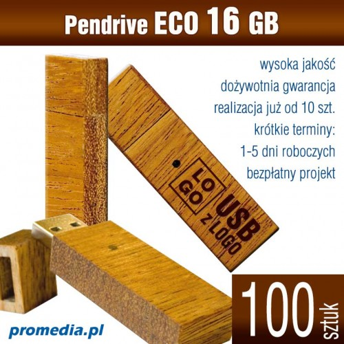 Pendrive Goodram ECO 16 GB z grawerem - komplet 100 szt.