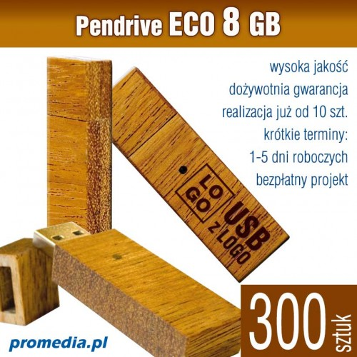 Pendrive Goodram ECO 8 GB z grawerem - komplet 300 szt.