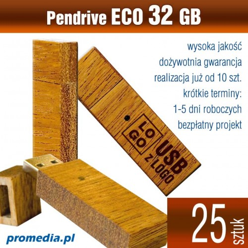 Pendrive Goodram ECO 32 GB z grawerem - komplet 25 szt.