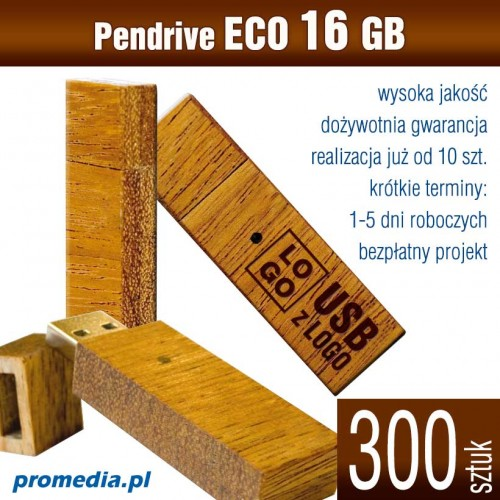 Pendrive Goodram ECO 16 GB z grawerem - komplet 300 szt.