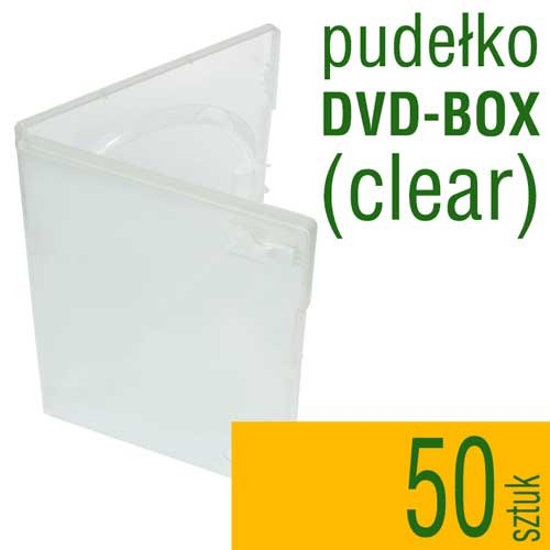 pudełko plastikowe DVD-BOX clear - do płyt CD, DVD