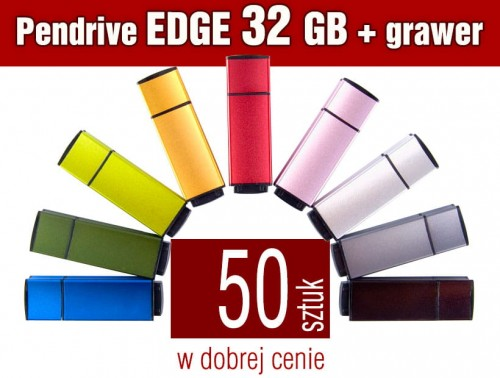 Pendrive EDGE 32 GB z grawerem - komplet 50 szt.