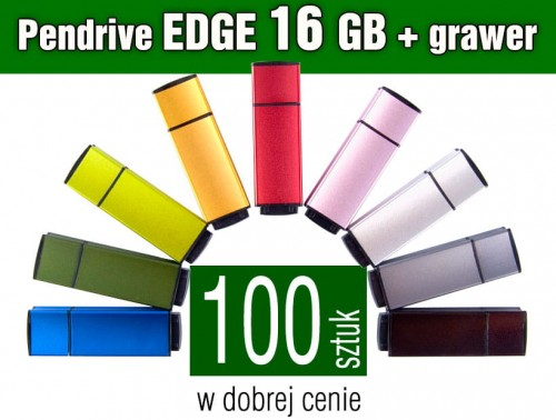 Pendrive EDGE 16 GB z grawerem - komplet 100 szt.