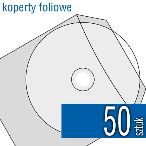 koperta foliowa do płyt CD, DVD, Blu-Ray (gruba folia)