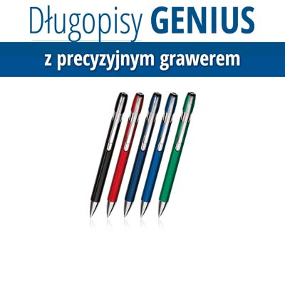 Genius z grawerem